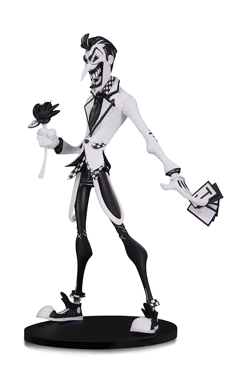 Amazon com dc artists alley the joker by hainanu nooligan saulque black white version designer vinyl figure toys games