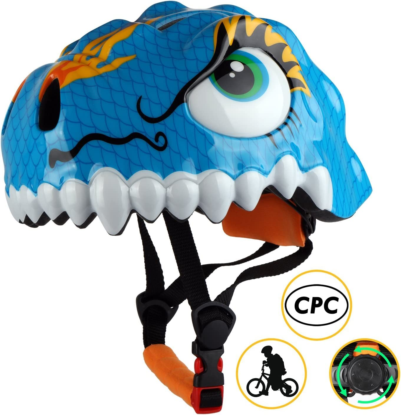Shinmax Kids Bike Helmet, 3D Cartoon Toddler Helmet CPC CE Certified Children Multi-Sport Infant Safety Helmet Adjustable for Boys Girls Riding Cycling Skating Scooter