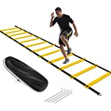 KIKILIVE Agility Ladder, Speed Agility Training Footwork Equipment 12 Rung with Carrying Bag for Sports Soccer, Football, Exe