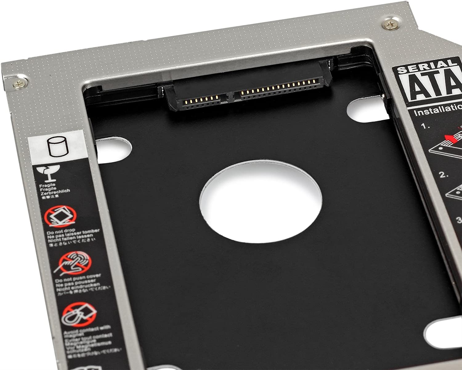 CAMWAY 2.5 2nd SATA HDD SSD Hard Drive Caddy Bay 9.5mm for Apple MacBook Pro Unibody