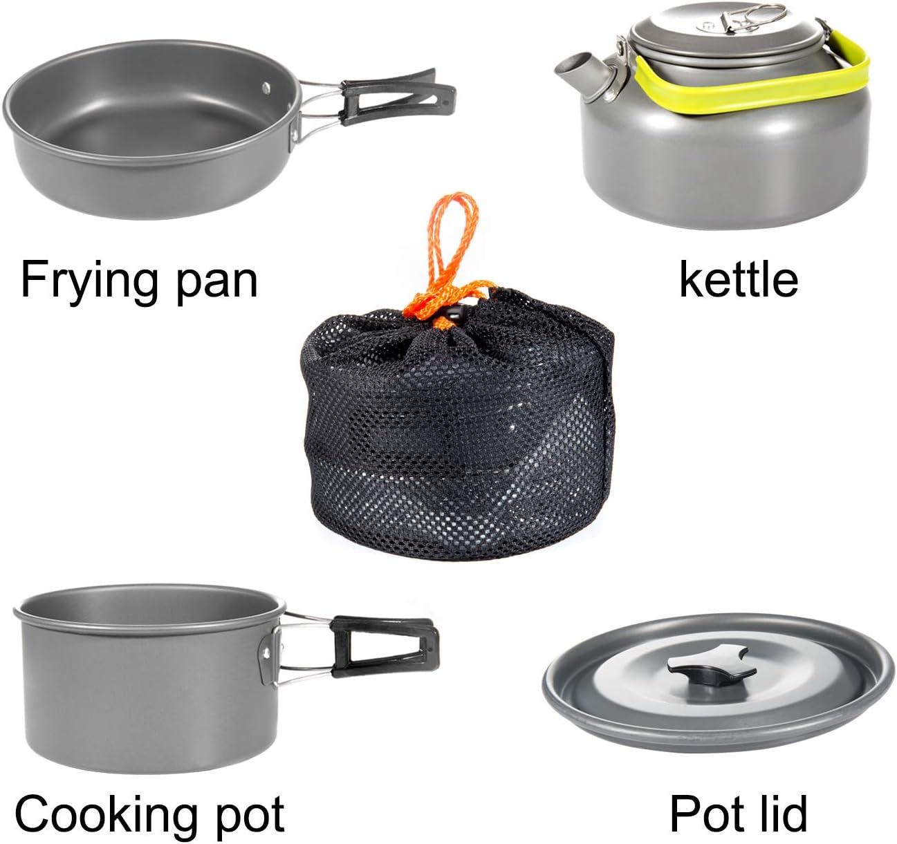 Ustensiles de Cuisine de Camping pour Camping Diealles Kit de Cuisine en Camping P/édestre Pique-Nique,BBQ Randonn/ée