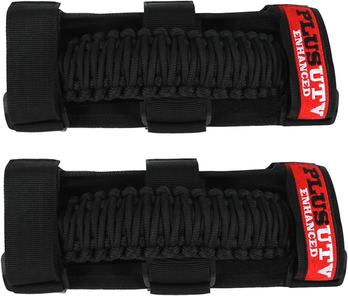 KEMIMOTO 2 Pack UTV Heavy Duty Roll Bar Grab Handle Grips Grab bar Hand Hold for Polaris RZR Ranger Can Am Kawasaki Honda Pioneer Talon Wildcat
