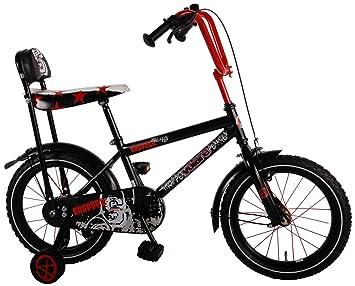 Bicicleta niño en bicicleta chopper de 16 pulgadas ruedas de 4 5 6 años de edad Negro: Amazon.es: Deportes y aire libre