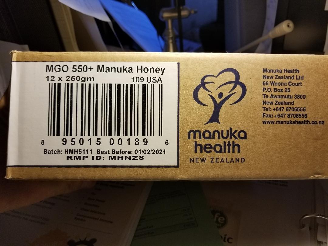 Amazon.com : Manuka Health - MGO 550+ Manuka Honey, 100% Pure New ...