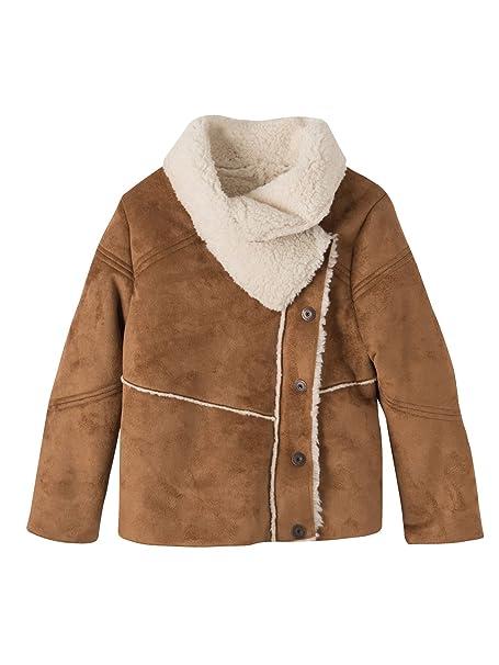 VERTBAUDET Abrigo de piel de borreguillo sintética niña Caramelo 14A: Amazon.es: Ropa y accesorios