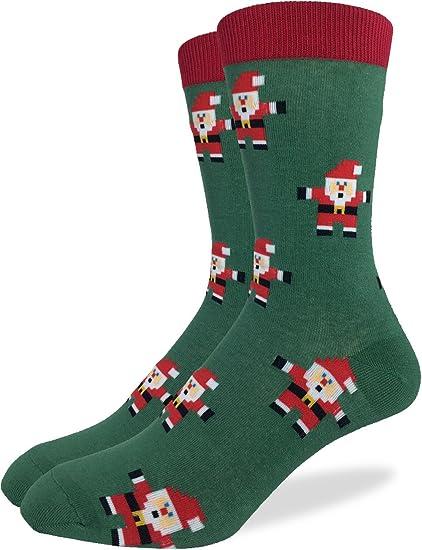 dd31c3ef09fa30 Amazon.com  Good Luck Sock Men s Christmas Santa Clause Crew Socks ...