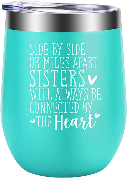 Amazon Com Sisters Gifts From Sister Christmas Gifts For Sister Sister Gifts Funny Long Distance Birthday Wine Gifts For Sisters Soul Sister Little Big Sister Sister In Law Friend