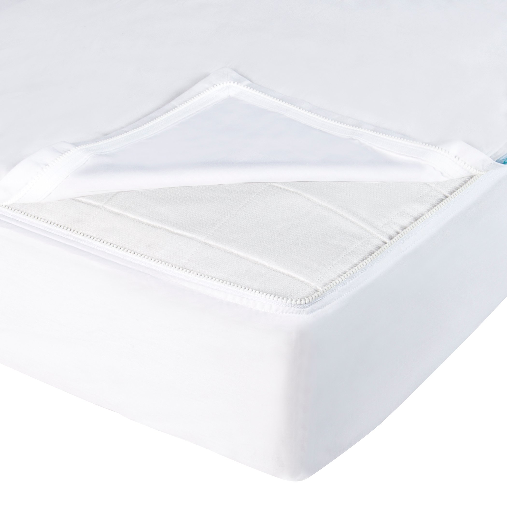 QuickZip Easy Change Crib Sheet With Wraparound Total Security Base, White