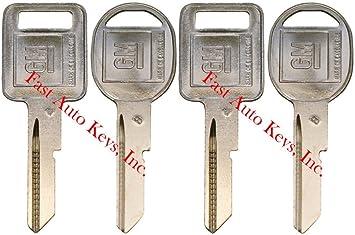 595311 2 NEW Gm Logo OEM E Ignition H Doors//trunk Key Blanks Uncut 595198