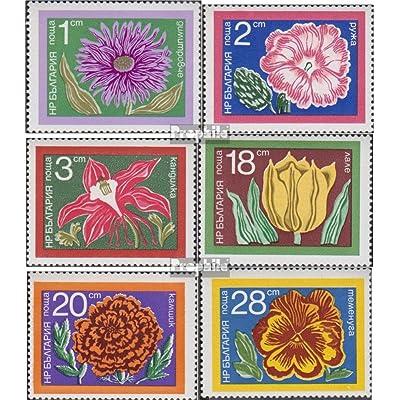 Bulgarie 2345-2350 (complète.Edition.) 1974 fleurs de jardin (Timbres pour les collectionneurs)