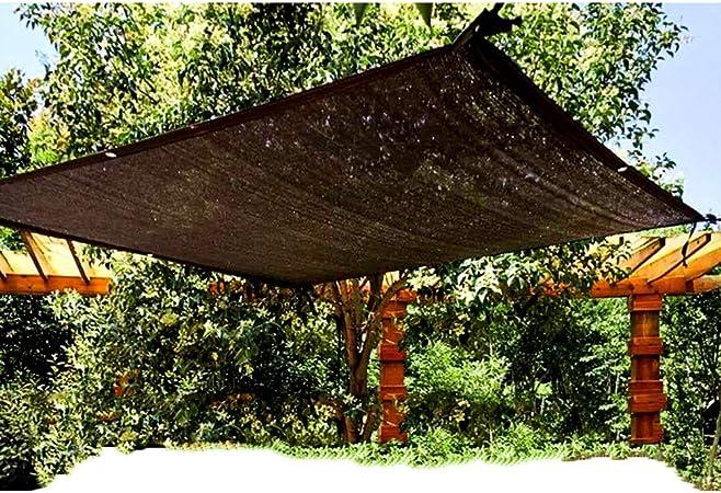 LSXIAO-Malla Sombra De Red Red De Sombreado Tienda De Protección Solar Filtrado De Luz Ojal De Metal Cuerda Libre Malla Aislante for Jardín Exterior, 10 Medidas (Color : Black, Size : 4X5m):