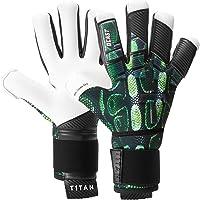 T1TAN Torwarthandschuhe mit Fingerschutz, Tormannhandschuhe Herren & Erwachsene und 4mm Grip - Diverse Größe und Farben