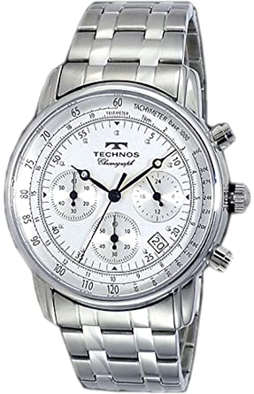 e7ce98e52fdc [テクノス]腕時計 メンズ メンズ腕時計 TECHNOS クロノグラフ テクノス T4222SS 白 ホワイト シルバー