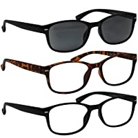 Fashion Reading Glasses - F505 - Designer Readers for Women and Men with Comfort Spring Hinges -