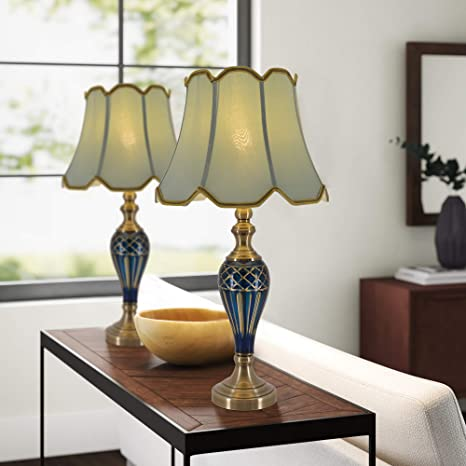 Amazon.com: Table Lamps For Living Room Set Of 2 Classical 28 Inch Glass Blue Bedside Lamps For Bedroom Table Lamp For Living Room: Home Improvement