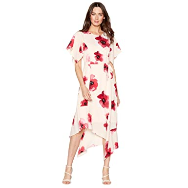 f665b3c5a3 John Rocha Womens Pink Floral Print Crepe High Low Dress  RJR.John Rocha   Amazon.co.uk  Clothing