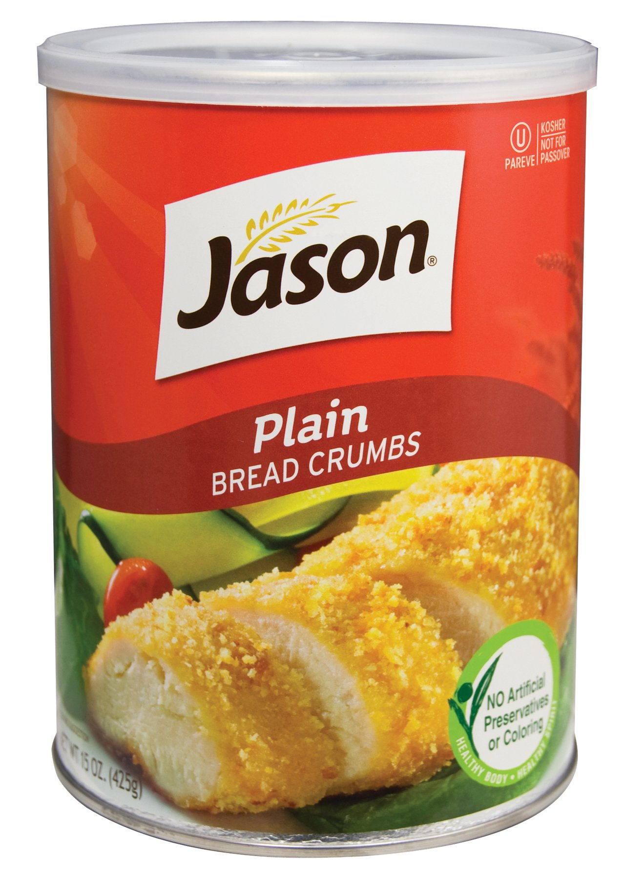 Jason Bread Crumbs Bread Crumbs Plain, 15-Ounce (Pack of 6) by Jason Bread Crumbs