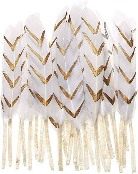 6 inches A Pack of  20  White Feathers approx 15cm long
