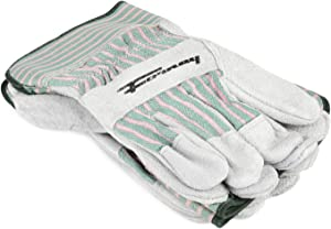 Forney 53206 Cowhide Leather Palm Men's Work Gloves, X-Large, 3-Pack,Gray
