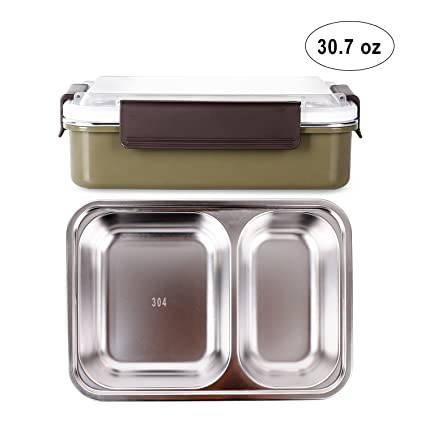 Amazon.com: Bento Boxes Stainless Steel Lunch Boxes with Compartments Water Heating Food Containers for Kids, Adults, School, Office, Work, ...