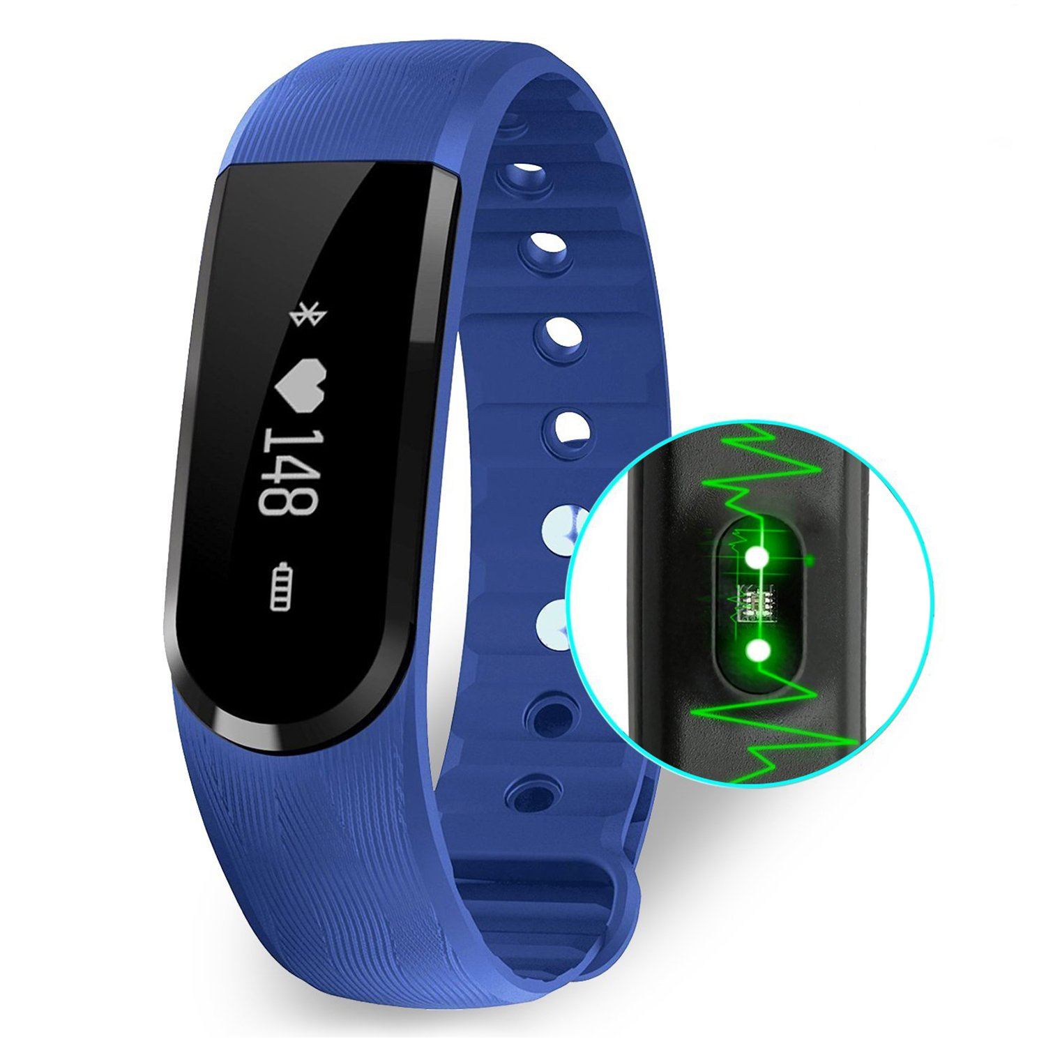 Heart Rate Monitor COOLEAD Fitness Activity Tracker Band with Health Sleep Monitor Pedometer Calorie Counter /Step Counter/Camera remote/Music control