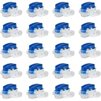 GWHOLE Pack of 20 Cable Connector Electrical Wire Connectors for Robotic Lawn Mowers, Irrigation Applications