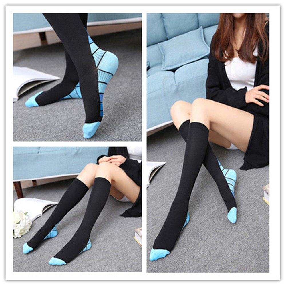 Graduated Compression Socks for Men & Women, BEST Athletic Fit for Running, Cycling, Nurses, Shin Splints, Air Travel,Foot Support & Maternity Pregnancy. Boost Stamina, Circulation, & Recovery -2 Pair by H-Brotaco (Image #7)