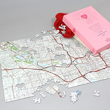 Amazoncom Personalized We First Met Map Jigsaw Puzzle USGS