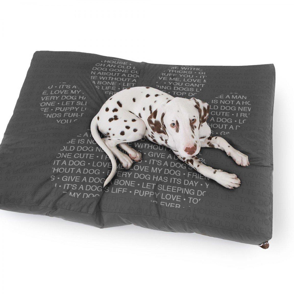 rucomfy Bean bags Cama Pequeño Lujo De Imitación De Ante De La Pata del Perro De Impresión: Amazon.es: Hogar
