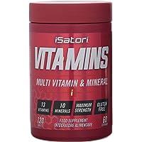 Isatori Integratore Alimentare a Base di Vitamine e Minerali ad Alto Dosaggio - 120 compresse
