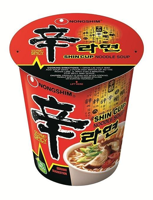 2 opinioni per Nong Shim Shin Cup Noodle Soup- 12 Cups