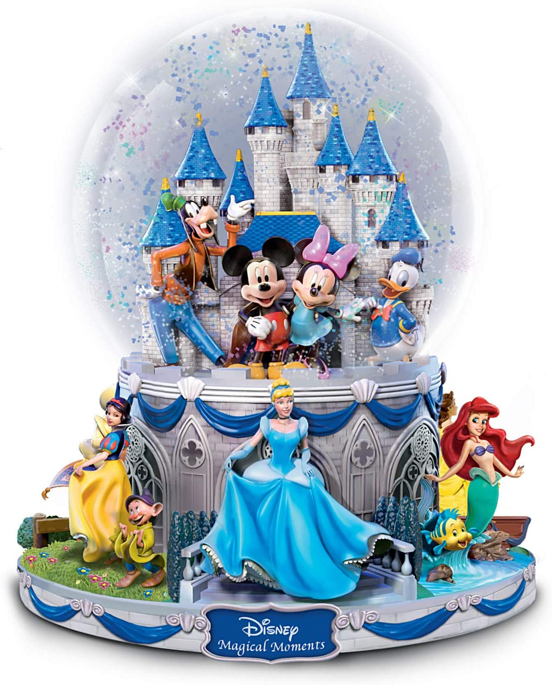 The Bradford Exchange Disney Collectible Rotating Musical Glitter Globe: Characters Circle The Base
