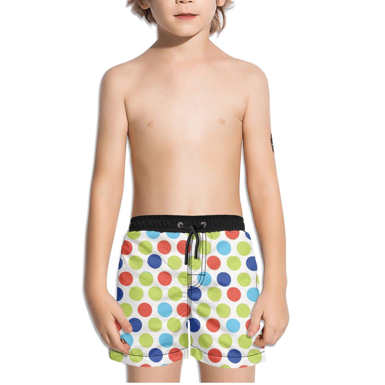 Ouxioaz Boys Swim Trunk Retro Diddly Dot Beach Board Shorts