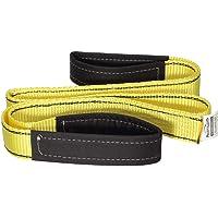 Premium 2 Pcs Crane Towing Strap Durable 3400Dtex - Heavy Duty Web Sling - Corrosion Resistance Polyester Industrial Flat Eye-Eye Ropes (5.5feet x 2inch)