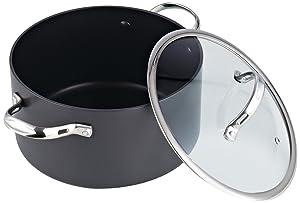 Cooks Standard 6 Quart Nonstick Hard Anodized Stockpot, Black