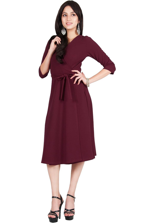40c2ac3bcb Viris Zamara Womens V-Neck Half Sleeve Flowy Wedding Semi Formal Midi Dress  at Amazon Women s Clothing store