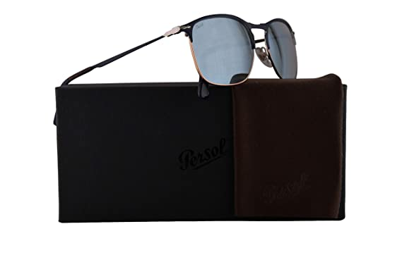9b07efbaba Persol PO7359S Sunglasses Blue Bronze w Light Green Mirror Silver Lens 58mm 107330  PO 7359-S 7359S PO7359-S  Amazon.co.uk  Clothing