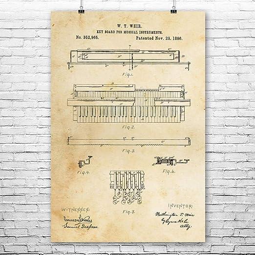 Piano Poster Set Pianist Gift Concert Hall Art Musician Gift Wall Art