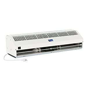 "Awoco 36"" Super Power 2 Speeds 1200CFM Commercial Indoor Air Curtain, UL Certified - 120V Unheated - Free Door Switch"