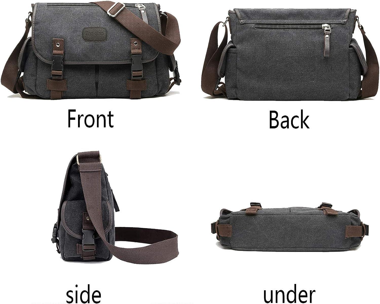 Men Vintage Canvas Cross Body Shoulder Messenger Bag Satchel School Bag M15