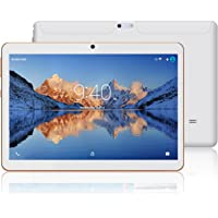 Tablets 10.1 Pulgadas Android 7.0 YOTOPT, Quad Core, 2GB de RAM, 16 GB de Memoria Interna, 3G Tablet, Dual SIM, WiFi/ Bluetooth/GPS/OTG - Blanco