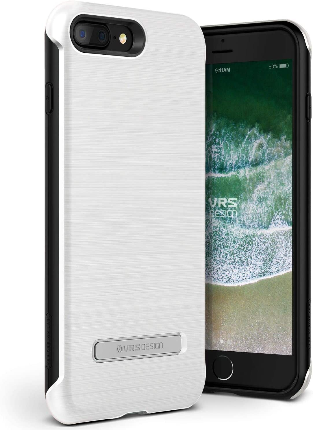 Lumion X VRS :: [Duo Guard] Dual Layer Hard Drop Protection :: Slim Thin Fit :: Heavy Duty Shock Absorption Cover Compatible with Apple iPhone 7 Plus / 8 Plus (White)