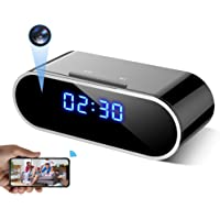 WEMLB WB-726 HD 1080 P WiFi Hidden Camera Alarm Clock Night Vision/Motion Detection/Loop Recording Wireless Security…