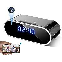WEMLB WB-726 HD 1080 P WiFi Hidden Camera Alarm Clock Night Vision/Motion Detection/Loop Recording Wireless Security…