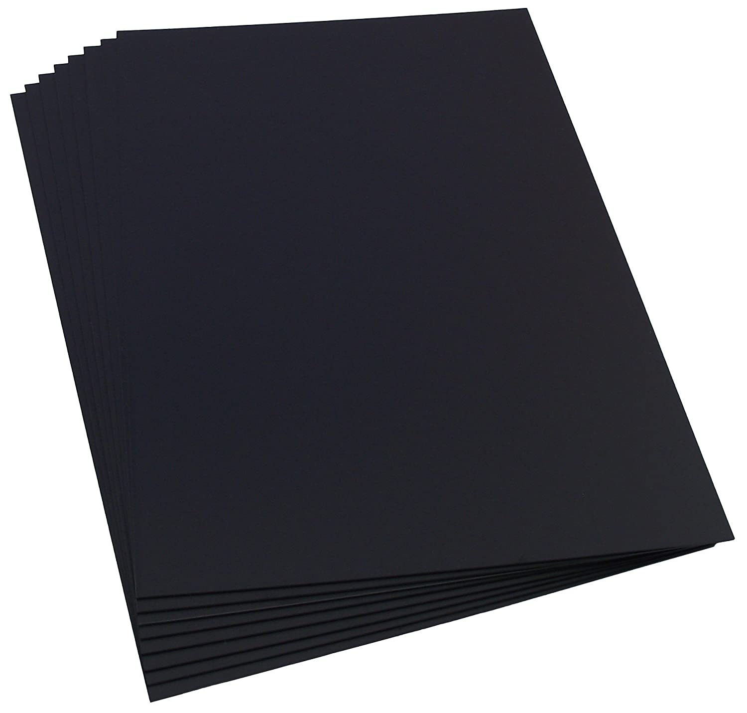 Plasticard 8 Sheets of 0.5mm Matt Black Styrene, Size A4+ 220mm x 325mm Station Road Baseboards