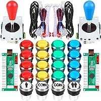 EG Starts 2 Player Classic Arcade DIY Kit USB Encoder to PC Joystick Games + 2x 5Pin Rocker + 16x 30mm 5V LED Lit Push…