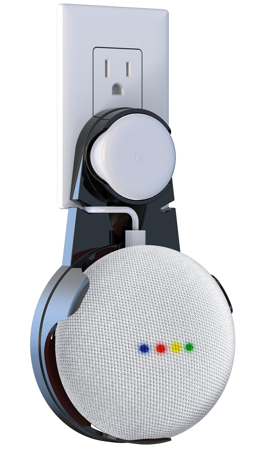 Matone Google Home Mini Wall Mount, Compact Outlet Mount Holder ...