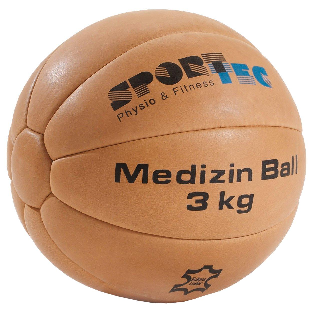 Medizinball Fitnessball Gewichtsball Rehaball aus Echtem Leder