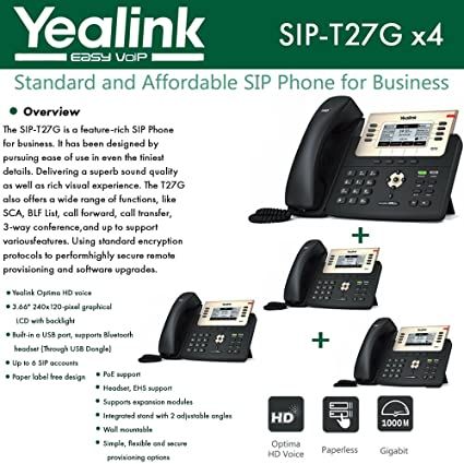 Yealink IPPhone SIP-T46S 8-Pack Optima HD USB Dongle PoE 16 VoIP