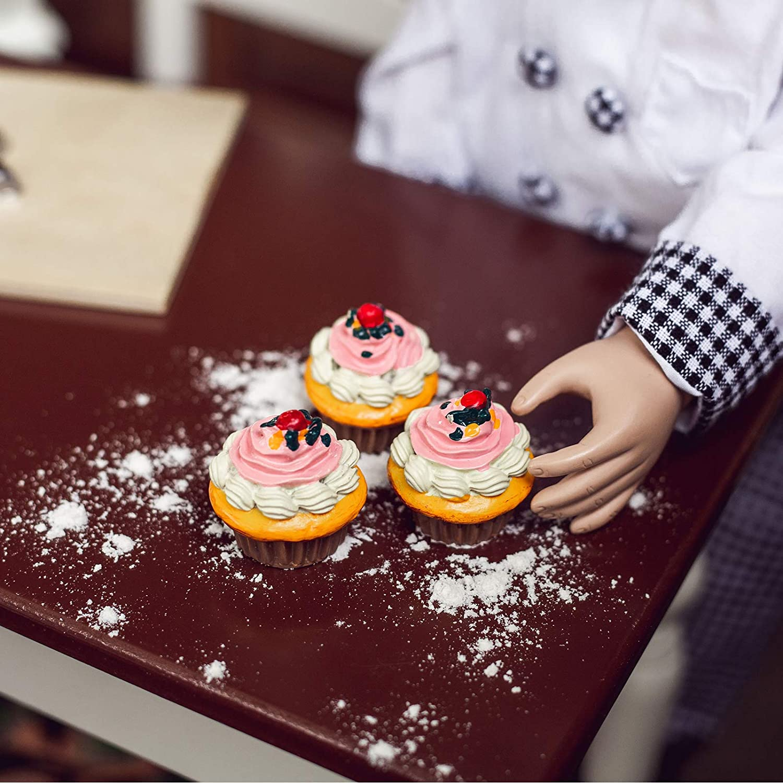 "11x Cake Bread Salmon ice cream Farmhouse Restaurant for 18/"" American Girl dolls"